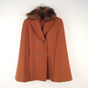 Topshop Orange Cape Coat